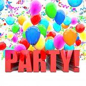 birthday balloons 3d image wallpaper
