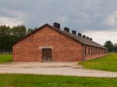 Brick building in Birkenau concentration camp