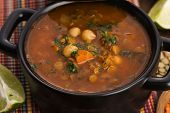 foto of traditional  - Moroccan traditional soup  - JPG