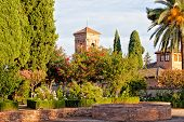 Ancient Arab fortress Alhambra