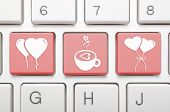 Abstract Valentine symbol on keyboard
