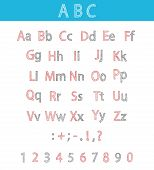 Classic Hand Drawn Alphabet. Abc For Your Design.