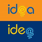 light bulb make idea text concept stock vector