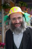 Jerusalem, Israel - March 15, 2006: Purim Carnival In The Famous Ultra-orthodox Quarter Of Jerusalem