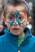 Jerusalem, Israel - March 15, 2006: Purim Carnival, Portrait Of Little Boy