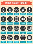 Vector Illustration Of Smart Devices And Wearable Electronics