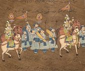 Procession Of Maharajah On Horse