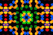 kaleidoscopic patterns of colored blur