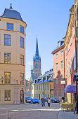 Stockholm. Sweden. People in Gamla Stan