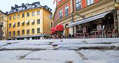 Stockholm. Sweden. Cafe in the center of the city