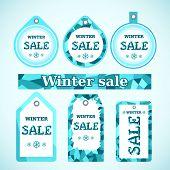 Vector. Winter sale.