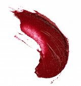 picture of lipstick  - Smudged lipstick isolated on the white background - JPG