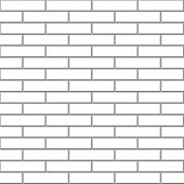 Seamless white brick wall vector pattern.