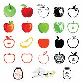 Set of apple icons