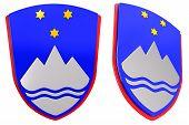 3D Slovene coat of arms