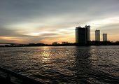 Choapraya river twilight building