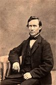 Vintage Photo 1879 van een President Lincoln Look-Alike Man