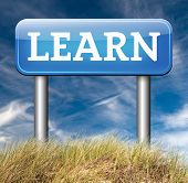 image of online education  - learn and study and find info information sign - JPG
