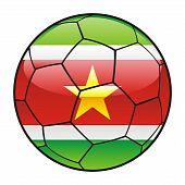 Suriname flag on soccer ball