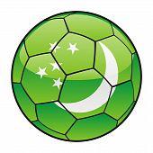 Turkmenistan flag on soccer ball