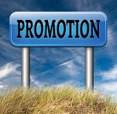 foto of promoter  - job promotion or product summer or winter sales promotion 