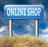 online shopping internet web shop webshoproad sign arrow