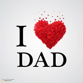 i love dad heart sign.