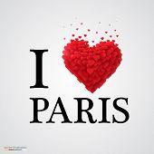 i love paris heart sign.