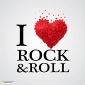 i love rock and roll heart sign.