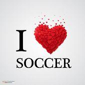 i love soccer heart sign