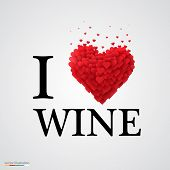 i love wine heart sign