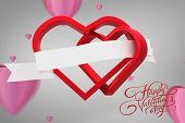 Happy valentines day against grey vignette