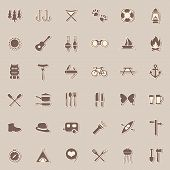 camping icons,