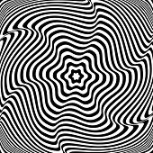 Illusion of  rotation movement. Abstract op art illustration. Vector art.