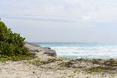 stock photo of yucatan  - A view of the ocean in Cancun beach on the Yucatan - JPG