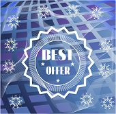 Winter card with text best offer