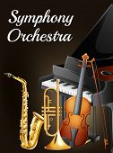 Illustration of a symphony orchestra poster