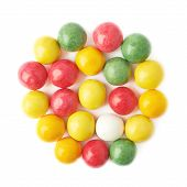 Multiple chewing gum balls isolated