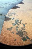 Aerial view of desert in United Arab Emirates