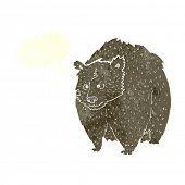 huge bear cartoon with speech bubble