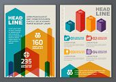 Set Of Vector Geometric Template For Brochure, Flyer, Poster, Application And Online Service. Colorf