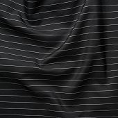 Black cloth material with white pinstripes