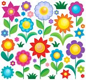 Flower theme collection 1 - eps10 vector illustration.