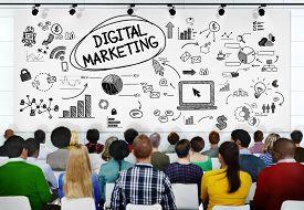 foto of seminar  - People Seminar Conference Digital Marketing Strategy Concept - JPG