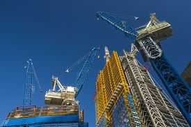 pic of high-rise  - Construction Cranes - JPG