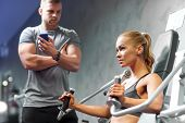 stock photo of personal trainer  - sport - JPG