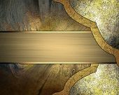 pic of nameplates  - Abstract background with elements of antiques and gold nameplate - JPG