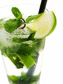 pic of mojito  - Single Mojito cocktail isolated on white background - JPG