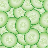 stock photo of cucumber slice  - Fresh sliced cucumbers - JPG