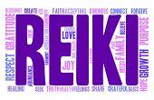 stock photo of reiki  - Reiki word cloud on a white background - JPG